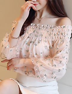 זול חולצות לנשים-פרחוני חמוד חולצה - בגדי ריקוד נשים