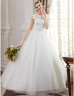 Cheap wedding dresses online wedding dresses for 2018 ball gown jewel neck floor length lace over tulle custom wedding dresses with beading appliques by lan ting bride junglespirit Images