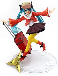billige Anime cosplay-Anime Action Figurer Inspirert av Vokaloid Hatsune Miku PVC 16.5 cm CM Modell Leker Dukke