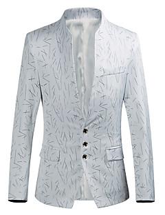 billige Herremote og klær-Trykt mønster, Høy krage Blazer - Stripet Fest Herre