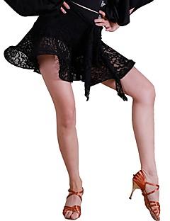 baratos Roupas de Dança Latina-Dança Latina Tutos e Saias Mulheres Treino Renda Fibra de Leite Renda Natural Saias