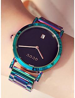 billige Armbåndsure-Dame Armbåndsur Japansk Kronograf / Vandafvisende / Stor urskive Rustfrit stål Bånd Minimalistisk / Farverig Jadegrøn