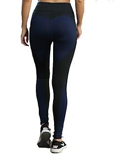 billiga Träning-, jogging- och yogakläder-Dam Tights för jogging - Svart, Grå, Svart / Blå sporter Randig Leggings Plusstorlekar Sportkläder Torkar snabbt, Butt Lift