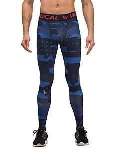 billiga Träning-, jogging- och yogakläder-Dam Tights för jogging - Svart / Blå, Kamoflage sporter Cykling Tights / Leggings Sportkläder