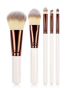 baratos -5 Peças Pincéis de maquiagem Profissional Conjuntos de pincel / Pincel para Blush / Pincel para Sombra Pêlo Sintético Amiga-do-Ambiente /