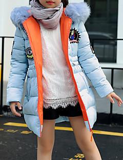 tanie Odzież dla dziewczynek-Odzież puchowa / pikowana Bawełna Poliester Dla dziewczynek Jendolity kolor Długi rękaw Na co dzień Niebieski White Black Blushing Pink