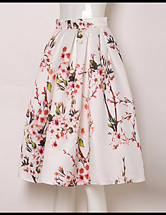 cheap Women's Skirts-Women's Going out Active / Street chic A Line Skirts - Floral