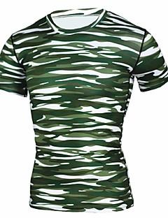 baratos Camisetas para Trilhas-Homens Camiseta de Trilha Ao ar livre Secagem Rápida Esticar Respirabilidade Leve Camiseta N / D Ciclismo de Estrada Acampar e Caminhar