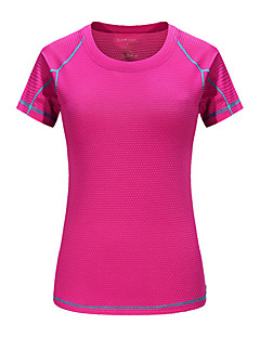 cheap Hiking T-shirts-Women's Hiking T-shirt Outdoor Fast Dry Quick Dry Sweat-Wicking Breathability T-shirt N/A Camping / Hiking Outdoor Exercise Multisport