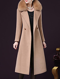 cheap Women's Coats & Trench Coats-Women's Sophisticated Plus Size Coat-Solid Colored