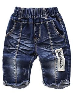 billige Jeans til drenge-Farveblok Pigens Bomuld Forår Sommer Kjole Aktiv Blå