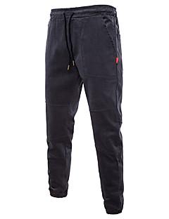billige Herrebukser og -shorts-Herre Chinoiserie Chinos Bukser Ensfarget