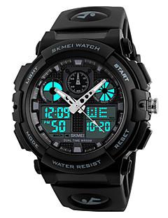 cheap Digital Watches-SKMEI Men's Digital Sport Watch Japanese Water Resistant / Water Proof Stopwatch PU Band Cool Black