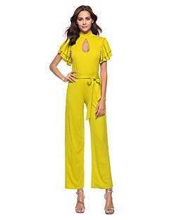 billige Jumpsuits og sparkebukser til damer-Dame Gatemote Kjeledresser - Ensfarget, Drapering Blondér