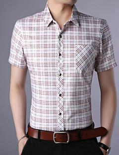 billige Herremote og klær-Skjorte Herre - Ruter, Trykt mønster Forretning Grunnleggende