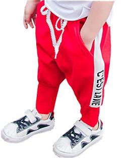 billige Jeans til drenge-Farveblok Pigens Bomuld Forår Sommer Kjole Aktiv Sort Rød