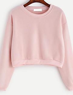 tanie Damskie bluzy z kapturem-Damskie Urocza Bluzy - Jendolity kolor, Frędzel