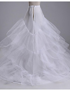 cheap Wedding Slips-Wedding Party Slips Cotton Cathedral-Length Chapel Train Irregular Style with Gore