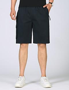 billige Herrebukser og -shorts-Herre Sporty Chinos Bukser Ensfarget