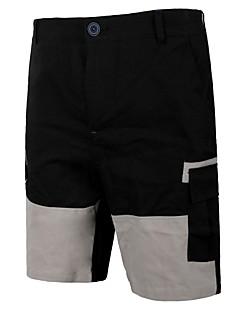 billige Herrebukser og -shorts-Herre Militær Chinoiserie Chinos Bukser Fargeblokk