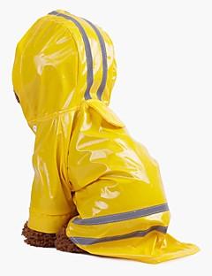 billiga Hundkläder-Hund / Katt / Husdjur Huvtröjor / Regnjacka Hundkläder Randig / Färgblock Blå / Rosa / Svart PU läder / Bomull / Polyester / Vattentätt
