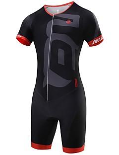 cheap Triathlon Clothing-Malciklo Triathlon Tri Suit - White / Black / Green / Yellow Bike Clothing Suits, Quick Dry Spandex