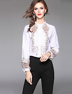 billige Dametopper-Skjorte Dame - Blomstret, Broderi Aktiv / Gatemote