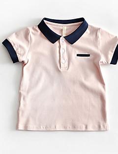 billige Overdele til drenge-Børn Drenge Farveblok Kortærmet T-shirt