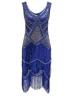 billige Paljettkjoler-Tube / kolonne V-hals Telang Polyester Glitrende Cocktailfest Kjole med Paljett av TS Couture®