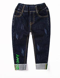 billige Drengebukser-Børn Drenge Trykt mønster Jeans