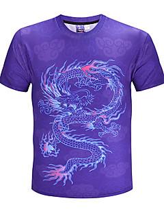 Χαμηλού Κόστους Feel Oriental-Ανδρικά T-shirt Κομψό στυλ street / Εξωγκωμένος Συνδυασμός Χρωμάτων / Ζώο Στρογγυλή Λαιμόκοψη / Κοντομάνικο