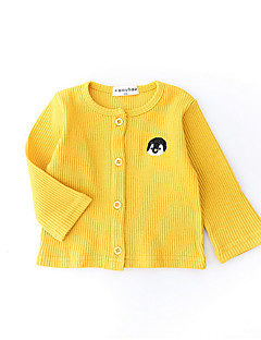 billige Overtøj til babyer-Baby Pige Ensfarvet Langærmet Jakke og frakke