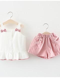 billige Sett med babyklær-Baby Pige Patchwork Uden ærmer Tøjsæt