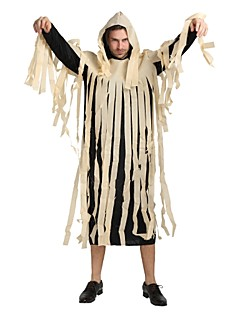 billige Voksenkostymer-Spøkelse / Zombie Drakter Unisex Halloween / Karneval / De dødes dag Festival / høytid Halloween-kostymer Svart Ensfarget / Damaskvev /