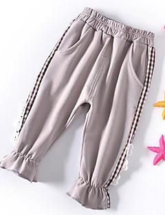 billige Bukser og leggings til piger-Børn Pige Stribet Bukser