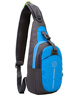cheap Backpacks & Bags-6L Sling Shoulder Bag - Lightweight, Rain-Proof, Wearable Hiking, Camping Oxford Red, Green, Blue