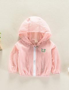 billige Overtøj til babyer-Baby Pige Ensfarvet Trykt mønster Langærmet Jakkesæt og blazer