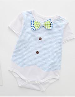billige Babytøj-Baby Unisex Farveblok Kort Ærme Bodysuit