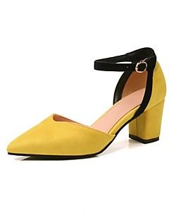 hesapli -Kadın's Ayakkabı Kişiselleştirilmiş Malzemeler Sonbahar / İlkbahar yaz Rahat Topuklular Kalın Topuk Açık Uçlu Düğün / Parti ve Gece için