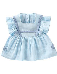 billige Babykjoler-Baby Pige Stribet Kortærmet Kjole
