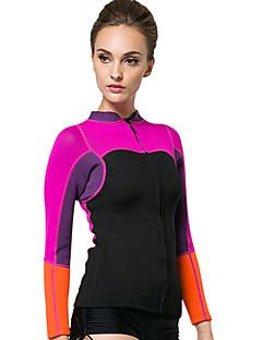 baratos Total Promoção Limpa Estoque-SBART Mulheres Jaqueta de Mergulho 2mm Neoprene Blusas Térmico / Quente Manga Longa Mergulho / Surfe / Snorkeling Retalhos