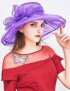 abordables Bolsos & Accesorios de Moda-Mujer Lazo Sombrero para el sol - Básico / Vacaciones Un Color