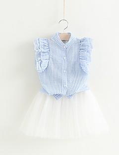 billige Tøjsæt til piger-Børn / Baby Pige Stribet Uden ærmer Tøjsæt