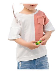 billige Overdele til drenge-Børn Drenge Patchwork Halvlange ærmer T-shirt
