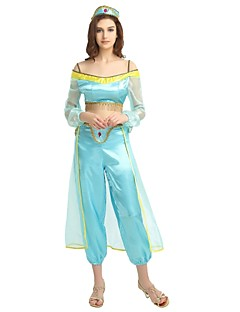 more costumes princess jasmine costume womens halloween halloween carnival childrens day festival holiday halloween costumes outfits blue solid colored