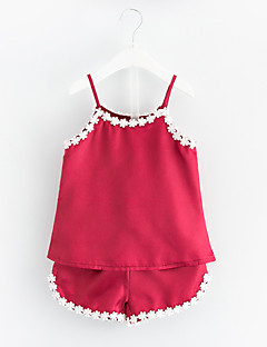 billige Undertøj og sokker til piger-2stk Baby Pige Ensfarvet Uden ærmer Nattøj