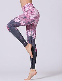 billiga Träning-, jogging- och yogakläder-Dam Yoga byxor - Blå, Rosa sporter Blommig / Botanisk, Sexig Cykling Tights / Leggings / Underdelar Sportkläder Tränare, Dans, Yoga