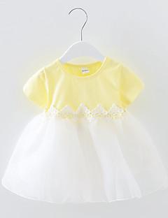 billige Pigekjoler-Børn Baby Pige Ensfarvet Kortærmet Kjole