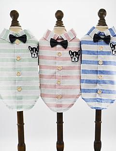 billiga Hundkläder-Hund Katt Husdjur T-shirts Hundkläder Mönstrad Tecknat Djur Grön Blå Rosa Bomull / Polyester Kostym För husdjur Herr Födelsedag Brittisk