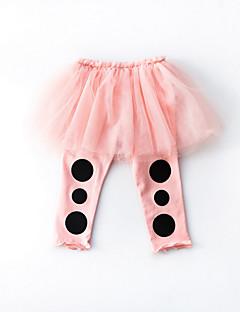 billige Babytøj-Baby Pige Aktiv Ensfarvet / Farveblok Bukser